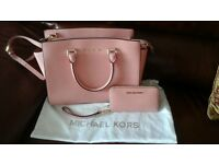Michael Kors pale pink selma bag & Matching Purse