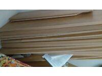 Loads of new and cut light oak flooring