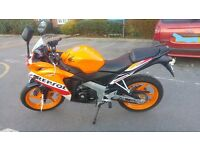 Honda CBR 125R, 45 Miles, As New