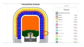 2 x Rolling Stones Tickets at Twickenham Stadium: Upper Tier Block U34