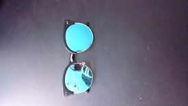 Trendy Blue Colored Sunglasses Berlin Hipster Style - Great Condition. Limited Offer until Jan 4th.
