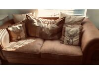 Sofa, arm chair and pouffe for sale