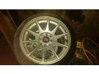 4x100 15inch alloy wheels