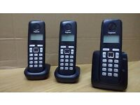 Gigaset A220 - three cordless handsets with answering machine