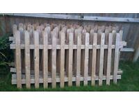 Wooden Garden Fence for Sale! [Around 18m]