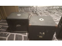 PEAVEY MEGA SUB BASS BINS/ SUB WOOFERS. 15 INCH BLACK WIDOW