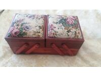 Sewing box wooden home material shabby chic vintage furniture