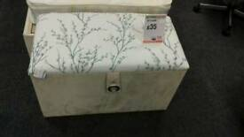 Small fabric ottoman