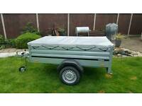 New Brenderup Car trailer 1205s XL with flat cover.
