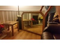 Gold framed, Heavy, quality Wall Mirror.