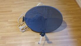 satelite dish with about 15 cable meters