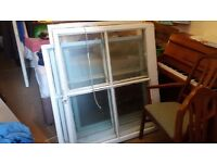 Victorian sash windows ideal for building a greenhouse.