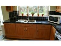 Kitchen units work top and appliances