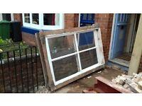Large encased sash window