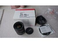 Canon 24-70 f2.8 mk1 L series lens 24-70mm L boxed