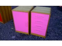 Drawer and cupboard units
