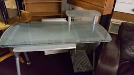 GLASS COMPUTER DESK FOR SALE