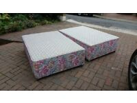 Used Double bed mattress base on wheels