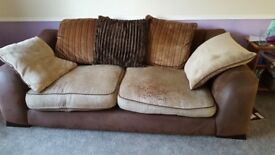 Brown 4 seater sofa set for quick sale
