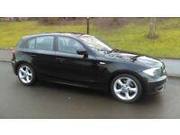 2010 BMW 118 PETROL 5 DOOR AUTO IN BLACK 12 MONTHS MOT
