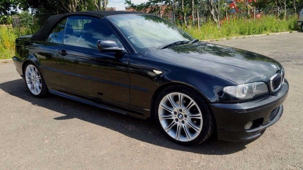 2003 BMW 325i M SPORT CONVERTIBLE BLACK AUTO
