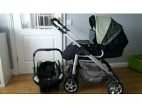 silver cross pram/buggy with car seat