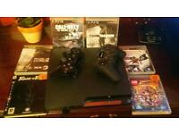 Ps3 console and bunch of cd