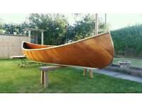 16 ft wooden canoe