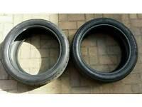 2x Continental Runflat Tyres 205/45/17. 4mm Tread SportContact3 MINI