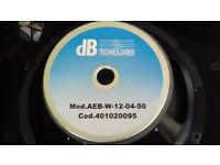 dB Technologies 12 inch woofer AEB:W-12-04-50, COD:401020095