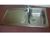 Kitchen sink with mixer tap. Used but in very good condition.