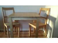 Small Ikea Table and 2 Chairs