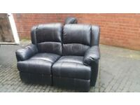 2 seater LEATHER RECLINER free delivery