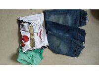 Boys shorts and t-shirts 8-9
