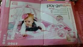 Girls play gym