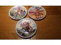 3 decorative native american plates. £15