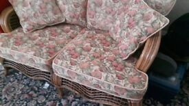 consurvtry furiture 2 seater class table and single seat i can split if wanted