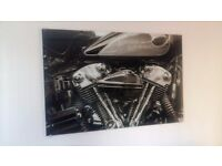 Harley Engine Glass Picture