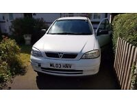 Vauxhall Astra Van, 2003, 64k miles, great runner, never let me down once. Great condition, white.