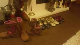 bungle of girls shoe excellent condition size 11 and 12s