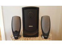 DELL sub woofer system with two speakers