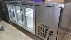 6 FT UNDER COUNTER COOLER WITH GLASS DOORS