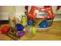 Hamster plus cage plus accesseries