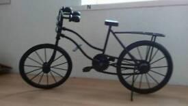 Vintage decorative metal pushbike