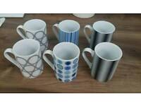 Set of 6 mugs. Bargain only 50p each