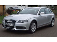 AUDI A4 2.0 AVANT TDI SE DPF 5d 141 BHP CRUISE CONTROL, MOT January 2018 1 Previous Owner, BLUETOOTH