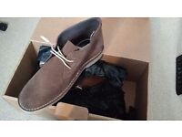 NEXT brand new brown suede shoes