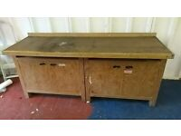 Tool Bench- station Ex Science Lab double detachable Drawer work Arts + Craft
