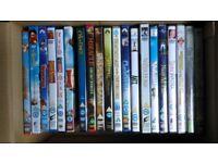 A bundle of DVDs - mainly children films
