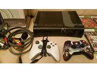 Xbox 360 bundle (console,2 controlers,6 games and all leads)